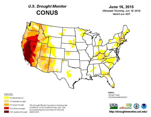 Current Drought Conditions across the United States
