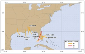 Major Hurricane Strikes 2004-05