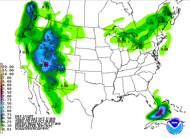 3 -day precipitation totals.