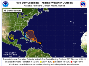 Tropical Development over the next 5 days.